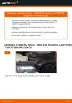Pakeisti Guolis, rato guolio korpusas BMW 3 SERIES: instrukcija