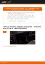 MERCEDES-BENZ Oro filtras, keleivio vieta keitimas pasidaryk pats - internetinės instrukcijos pdf