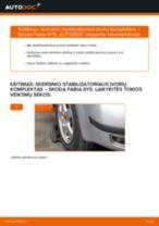 Kaip pakeisti gale ir priekyje Stabdžių Kaladėlės SKODA FABIA Combi (6Y5) - instrukcijos internetinės