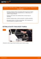 Žingsnis po žingsnio pakeiskite VW TRANSPORTER IV Bus (70XB, 70XC, 7DB, 7DW) Stabdžių trinkelių komplektas PDF vadovas