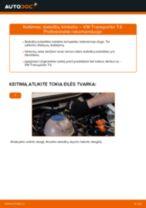 Stabdžių Kaladėlės pakeitimas VW TRANSPORTER IV Bus (70XB, 70XC, 7DB, 7DW) - patarimai ir gudrybės