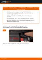Pakeisti Stabdžių diskas FIAT 500: instrukcija