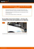Cum se înlocuiesc și se ajustează Placute Frana VW POLO: manual pdf