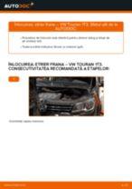 Cum să schimbați: etrier frana din față la VW Touran 1T3 | Ghid de înlocuire