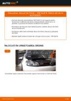 Înlocuirea Kit discuri frana la VW GOLF VI (5K1) - sfaturi și trucuri utile