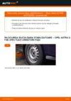 Cum să schimbați: bucsa bara stabilizatoare din față la Opel Astra G F48 | Ghid de înlocuire