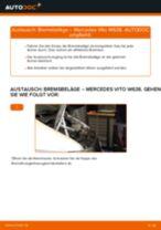 Schritt-für-Schritt-PDF-Tutorial zum Bremssattel Reparatursatz-Austausch beim MERCEDES-BENZ VITO Bus (638)