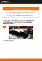 Bremsbelagverschleißsensor vorne wechseln: Mercedes W211 - Schritt für Schritt Anleitung