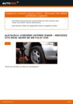 Wie Mercedes Vito W638 vorderer unterer Lenker wechseln - Anleitung