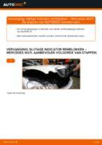 Handleiding: Mercedes W211 – slijtage indicator remblokken voor vervangen
