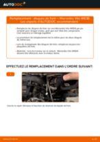 Comment changer : disques de frein avant sur Mercedes Vito W638 - Guide de remplacement