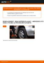 Comment changer : bras inférieur avant sur Mercedes Vito W638 - Guide de remplacement