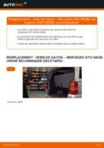 Comment changer : verin de hayon sur Mercedes Vito W638 - Guide de remplacement