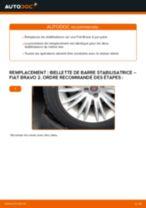 Comment changer : biellette de barre stabilisatrice avant sur Fiat Bravo 2 - Guide de remplacement