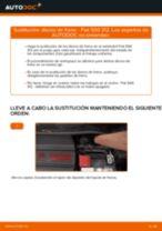 Cómo cambiar y ajustar Disco de freno FIAT 500: tutorial pdf