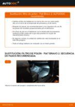 Cómo cambiar y ajustar Kit de reparación de frenos FIAT BRAVA: tutorial pdf