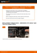 How to change Multi v belt on MERCEDES-BENZ VITO Bus (638) - manual online