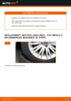 ALFA ROMEO 159 change Anti Roll Bar Bushes : guide pdf