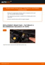 Step by step PDF-tutorial on Brake Shoes FIAT BRAVO II (198) replacement