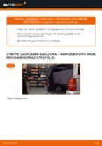 Byta gasfjäder baklucka på Mercedes Vito W638 – utbytesguide