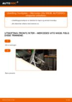 Skifte Hovedlys MERCEDES-BENZ VITO: gratis pdf