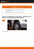 Kuinka vaihtaa etummainen alatukivarsi Mercedes Vito W638-autoon – vaihto-ohje