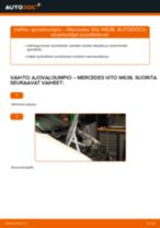 Automekaanikon suositukset MERCEDES-BENZ Mercedes W638 Bussi 108 CDI 2.2 (638.194) -auton Alatukivarsi-osien vaihdosta