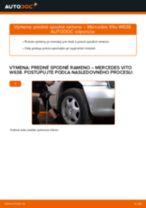 Ako vymeniť predné spodné rameno na Mercedes Vito W638 – návod na výmenu