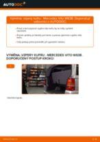 PDF návod na výměnu: Plynová vzpěra zadních dveří MERCEDES-BENZ VITO autobus (638)
