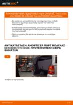 Αλλαγή Αμορτισέρ Πορτ Μπαγκαζ MERCEDES-BENZ VITO: εγχειριδιο χρησης