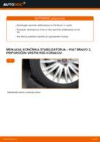 Kdaj zamenjati Šipka stabilizatorja FIAT BRAVO II (198): pdf navodila