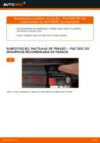 Substituir Calços de travão dianteiro e traseira FIAT 500: tutorial online