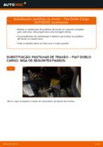 Como mudar pastilhas de travão da parte dianteira em Fiat Doblo Cargo - guia de substituição