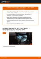 Internetinis vadovas, kaip pačiam pakeisti Stabdžių Kaladėlės ant FIAT BRAVO II (198)