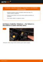Kaip pakeisti ir sureguliuoti Remonto komplektas, atrama / vairo trauklė FIAT BRAVA: pdf pamokomis