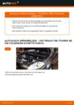 FIAT BRAVO II (198) Bremsbacken für Trommelbremse: Online-Anweisung zum selbstständigen Ersetzen