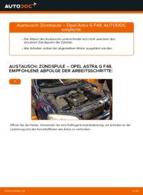 Wie der Wechsel durchführt wird: Zündspule 1.6 16V (F08, F48) Opel Astra G CC tauschen