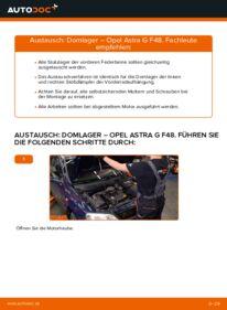 Wie der Wechsel durchführt wird: Domlager 1.6 16V (F08, F48) Opel Astra G CC tauschen