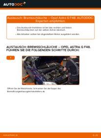 Wie der Wechsel durchführt wird: Bremsschläuche 1.6 16V (F08, F48) Opel Astra g f48 tauschen
