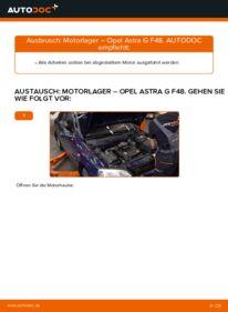 Wie der Wechsel durchführt wird: Motorlager Opel Astra g f48 1.6 16V (F08, F48) 1.6 (F08, F48) 1.4 16V (F08, F48) tauschen