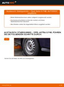 Wie der Wechsel durchführt wird: Stabigummis 1.6 16V (F08, F48) Opel Astra g f48 tauschen