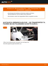 Wie der Ersatz vollführt wird: Bremsschläuche am VW TRANSPORTER