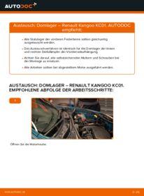 Wie der Wechsel durchführt wird: Domlager D 65 1.9 Renault Kangoo KC tauschen
