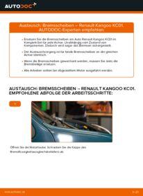 Wie der Wechsel durchführt wird: Bremsscheiben Renault Kangoo kc01 D 65 1.9 1.4 1.5 dCi tauschen