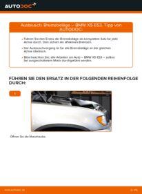 Wie der Wechsel durchführt wird: Bremsbeläge 3.0 d BMW E53 tauschen