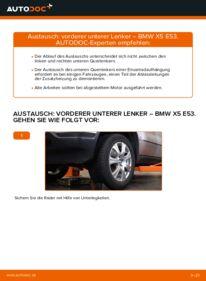 Wie der Wechsel durchführt wird: Querlenker 3.0 d BMW E53 tauschen