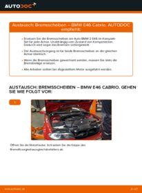 Wie der Wechsel durchführt wird: Bremsscheiben BMW e46 Cabrio 330Ci 3.0 320Ci 2.2 325Ci 2.5 tauschen