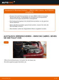 Wie der Wechsel durchführt wird: Bremsscheiben 330Ci 3.0 BMW e46 Cabrio tauschen
