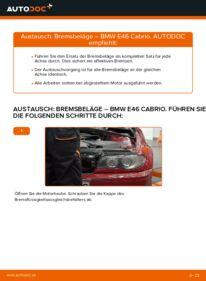 Wie der Wechsel durchführt wird: Bremsbeläge BMW e46 Cabrio 330Ci 3.0 320Ci 2.2 325Ci 2.5 tauschen