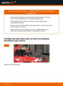 Wie der Wechsel durchführt wird: Domlager 330Ci 3.0 BMW e46 Cabrio tauschen